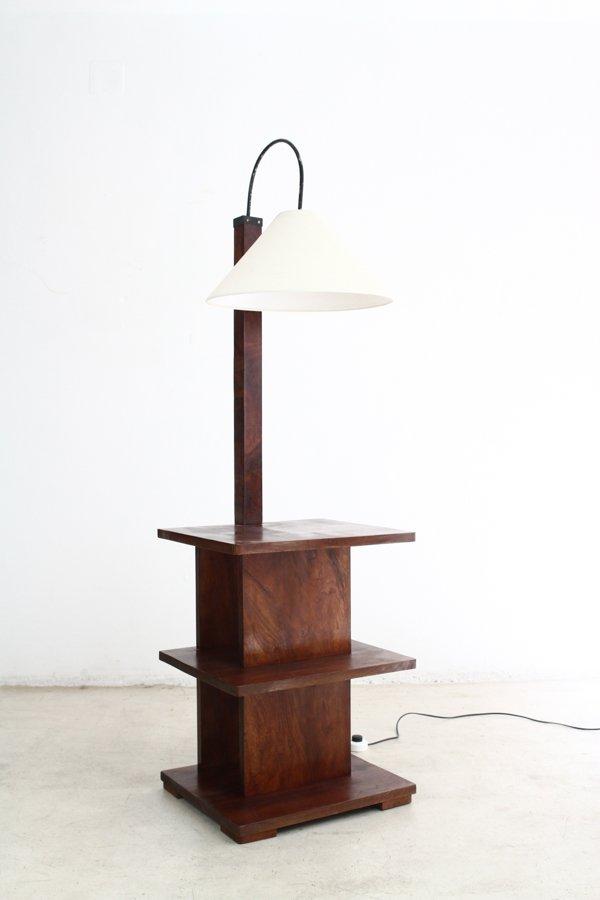 art deco walnut floor lamp with shelves 1930s for sale at pamono. Black Bedroom Furniture Sets. Home Design Ideas