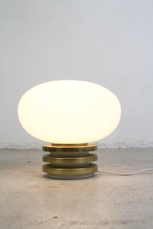 tischlampe aus glas von doria opaline 1970er bei pamono kaufen. Black Bedroom Furniture Sets. Home Design Ideas