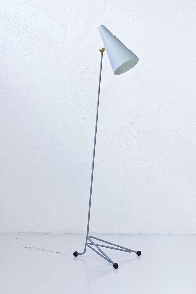 Schwedische Mid-Century Stehlampe aus Metall