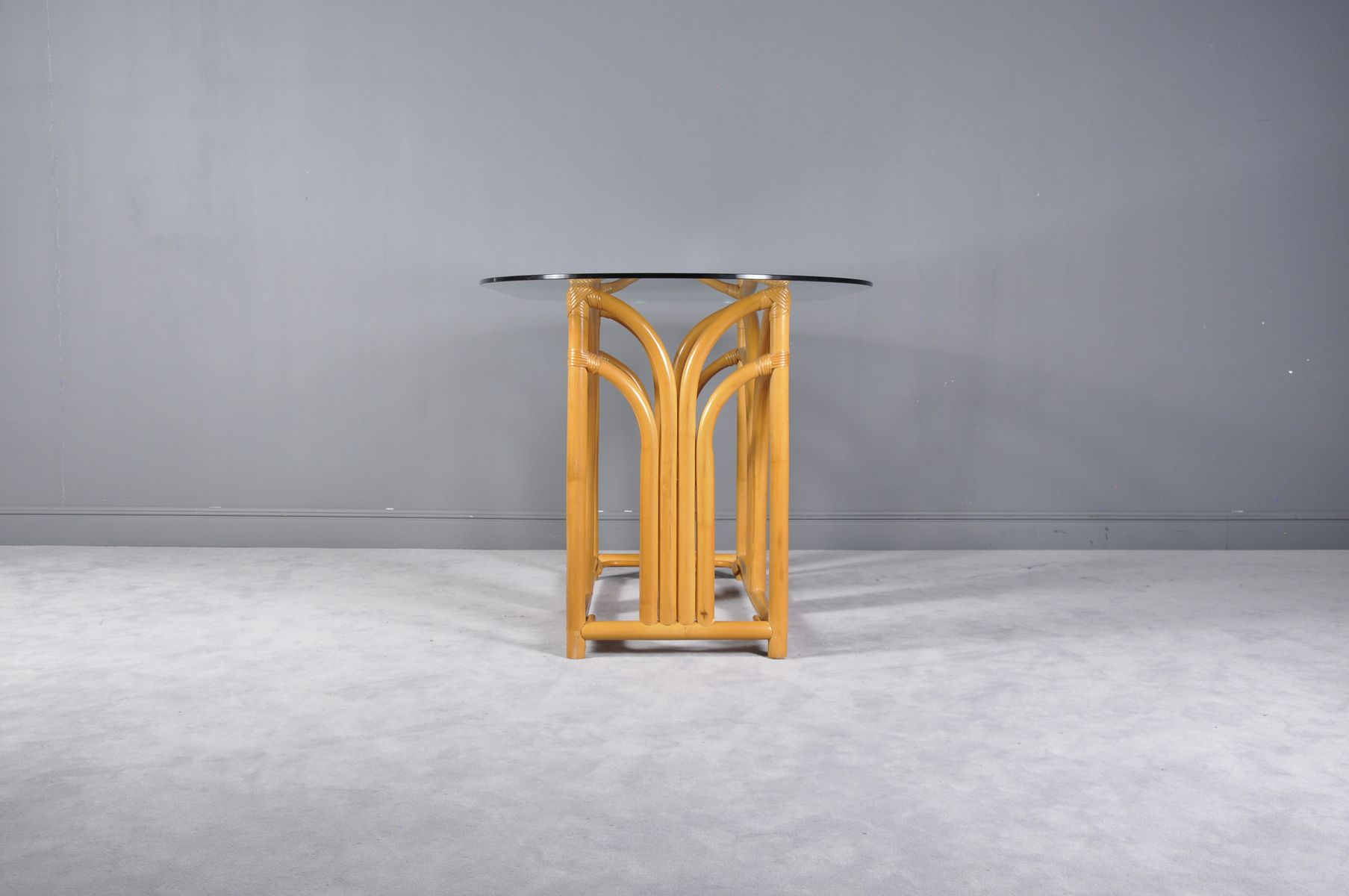 franz sischer tisch und st hle aus bambus 1970er bei. Black Bedroom Furniture Sets. Home Design Ideas