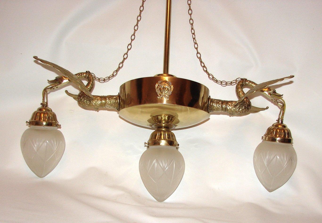 Antike Kronleuchter Belgien ~ Antiker jugendstil kronleuchter bei pamono kaufen