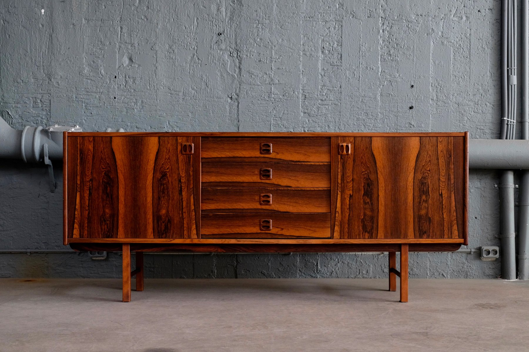 Ikea Walnut Credenza : Ladoga sideboard by erik wørts for ikea s sale at pamono