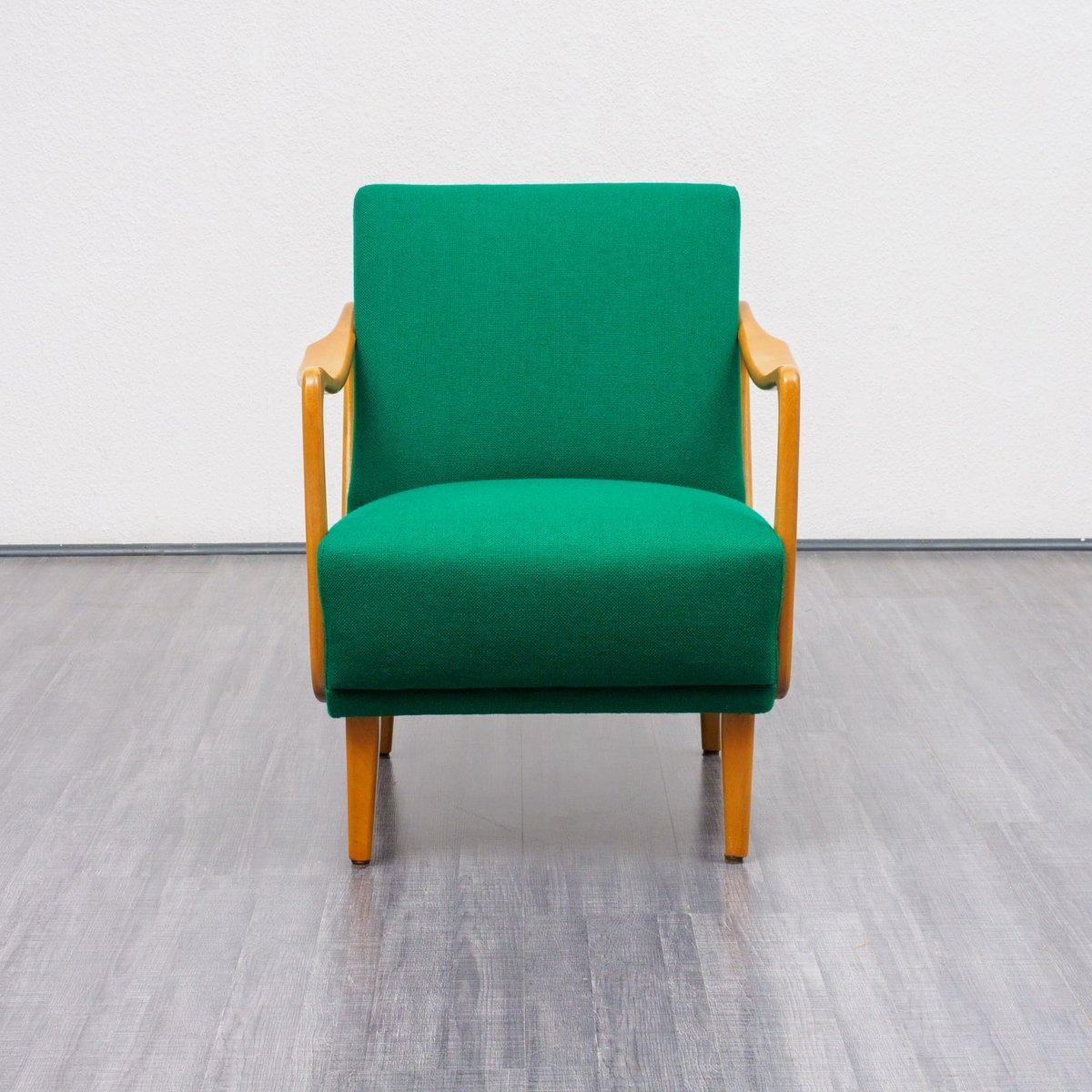 gr ner sessel aus buchenholz 1950er bei pamono kaufen. Black Bedroom Furniture Sets. Home Design Ideas