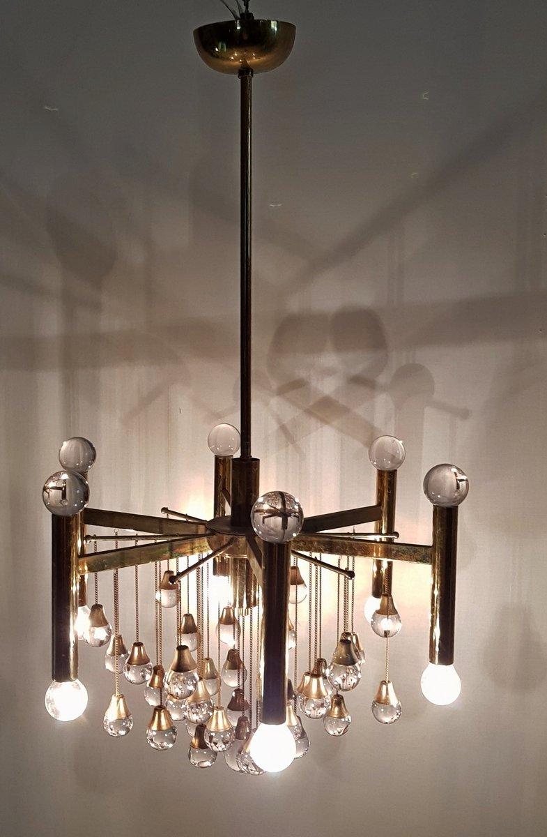 kronleuchter mit glaskugeln von gaetano sciolari f r sciolari 1960er bei pamono kaufen. Black Bedroom Furniture Sets. Home Design Ideas