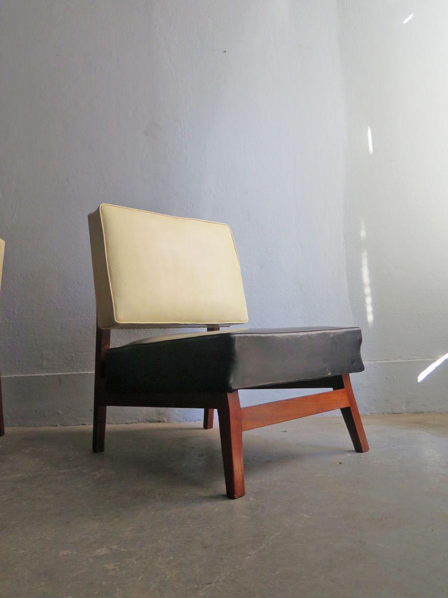 Sessel in Schwarz & Creme, 1930er, 2er Set