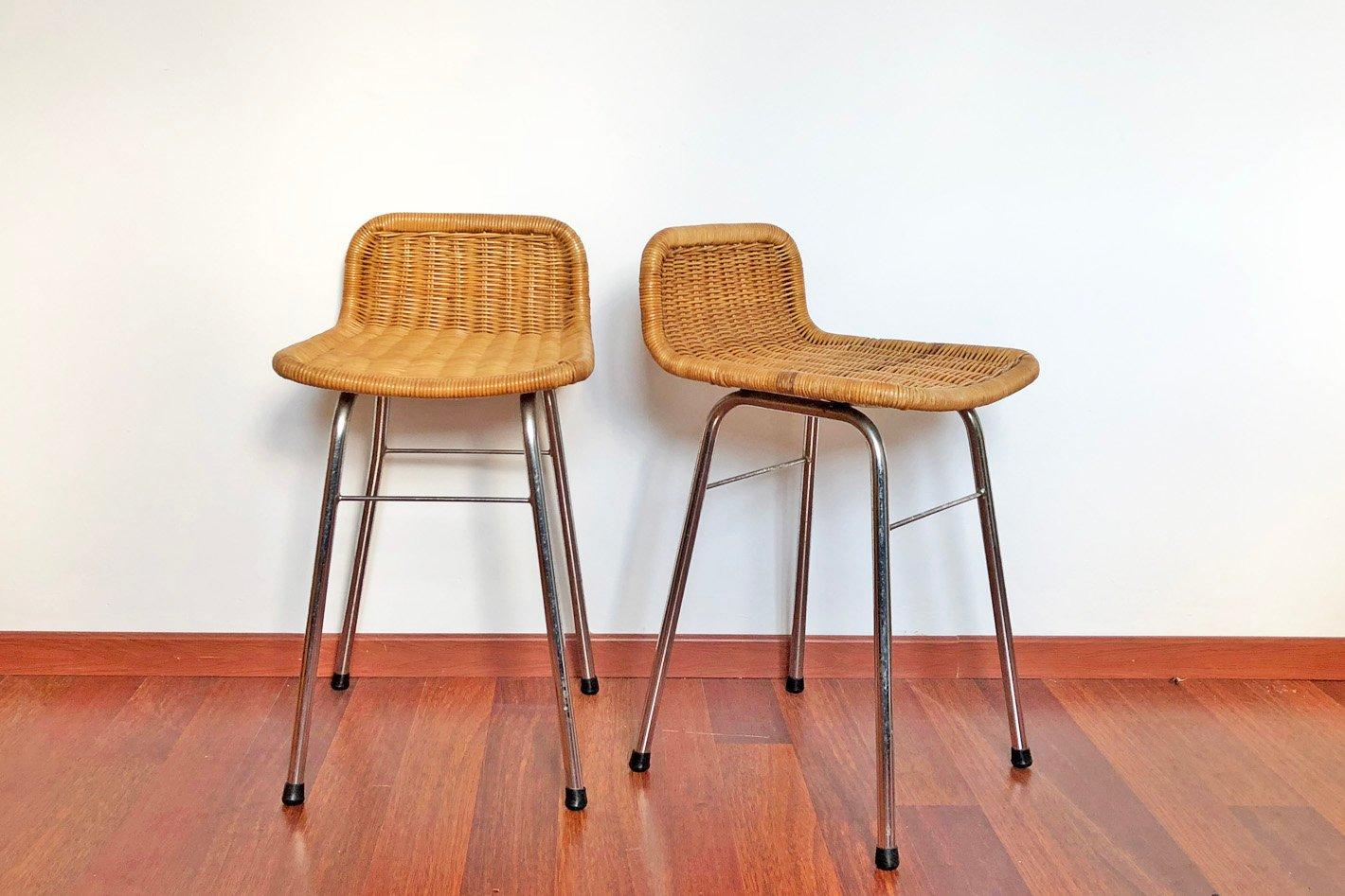 vintage barhocker von rohe noordwolde 2er set bei pamono kaufen. Black Bedroom Furniture Sets. Home Design Ideas