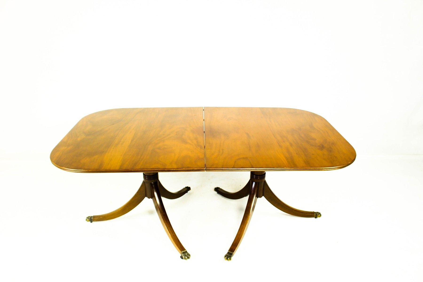 Ausziehbarer schwedischer Tisch aus Mahagoni, 1950er