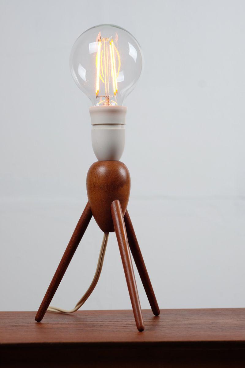 Mid-Century Tischlampe aus Teak