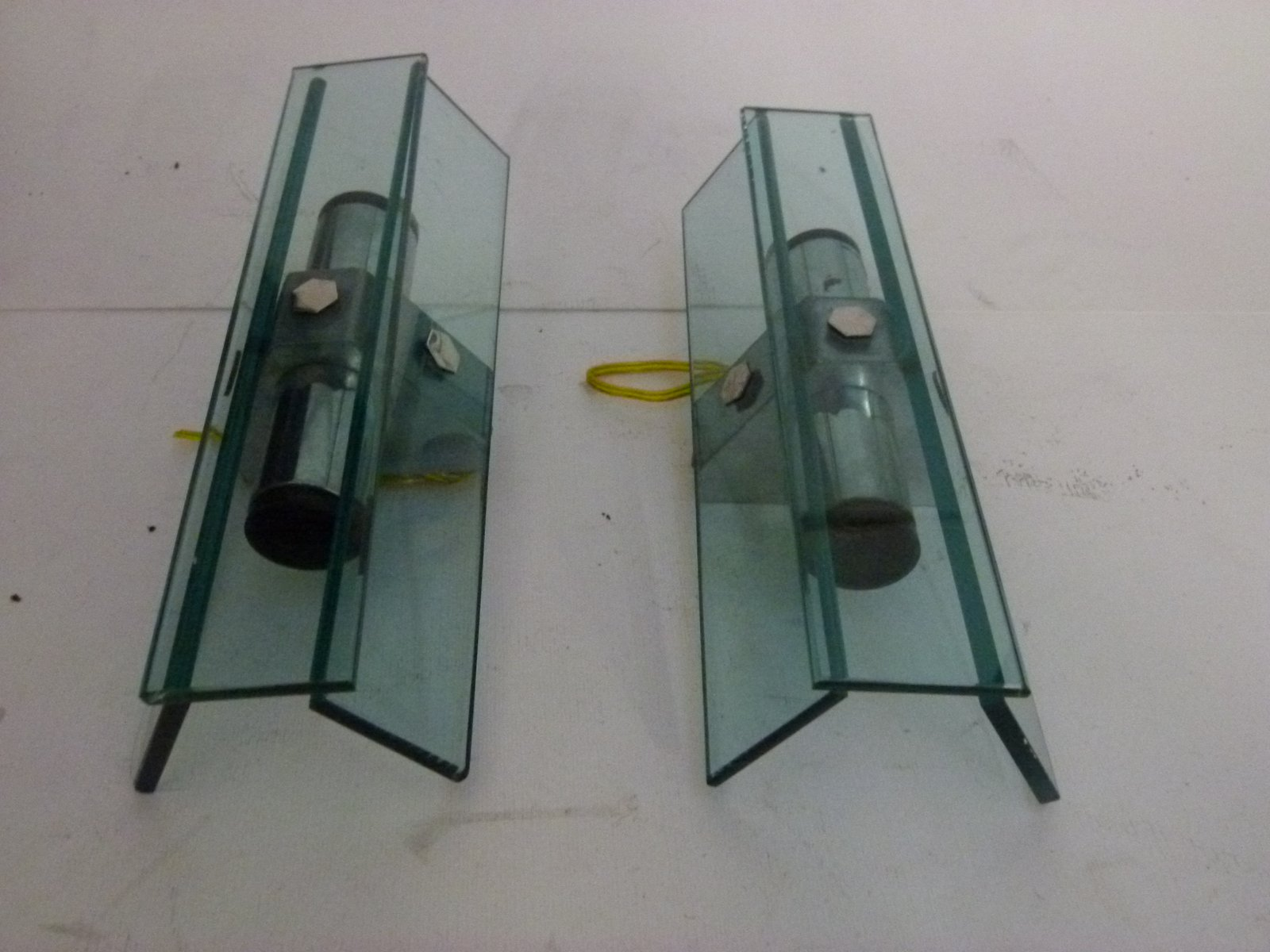 Italienische Lampen aus Muranoglas von VECA, 1970er, 2er Set