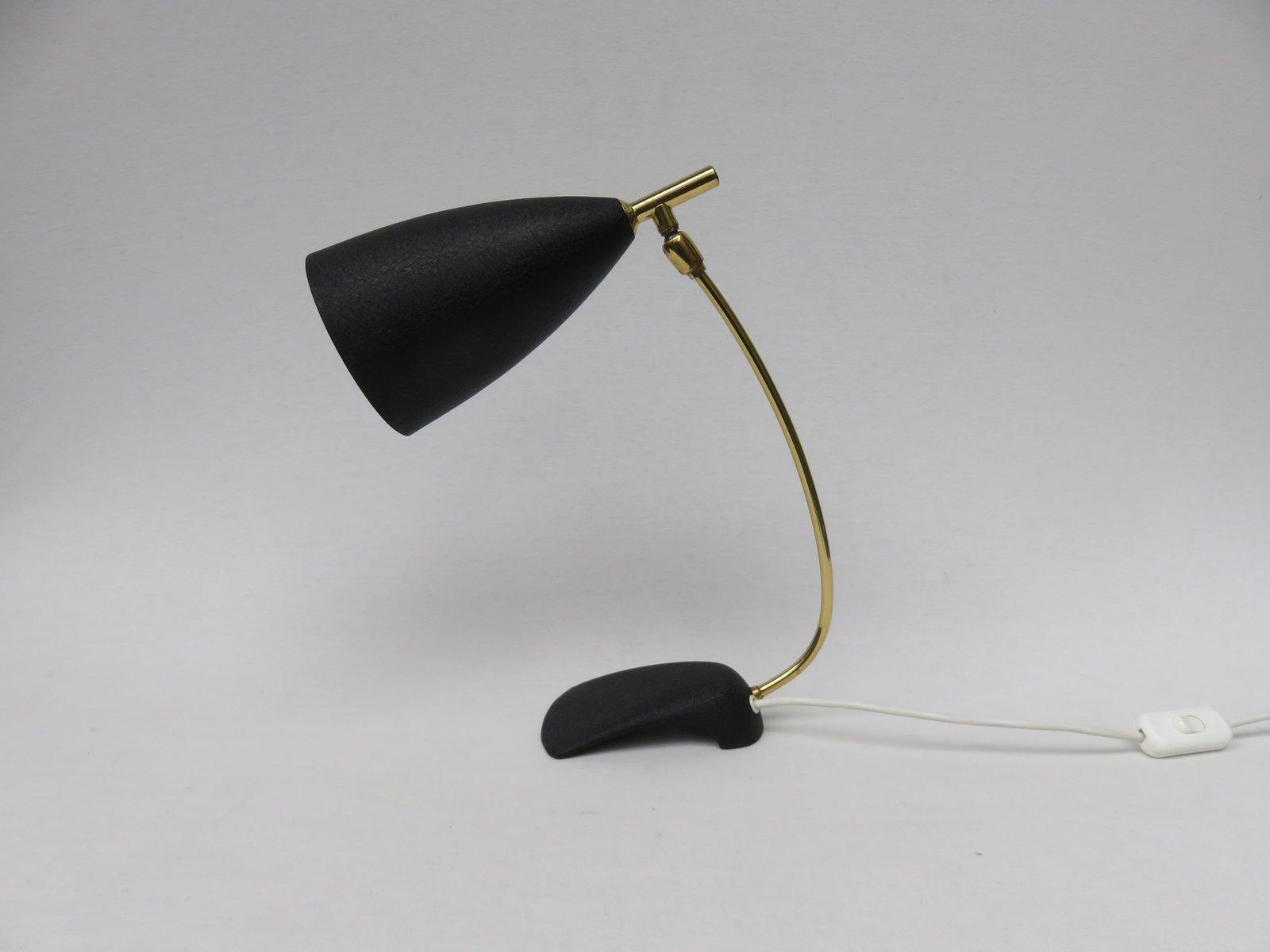 Lampe de bureau noire par louis kalff pour philips 1950s en vente