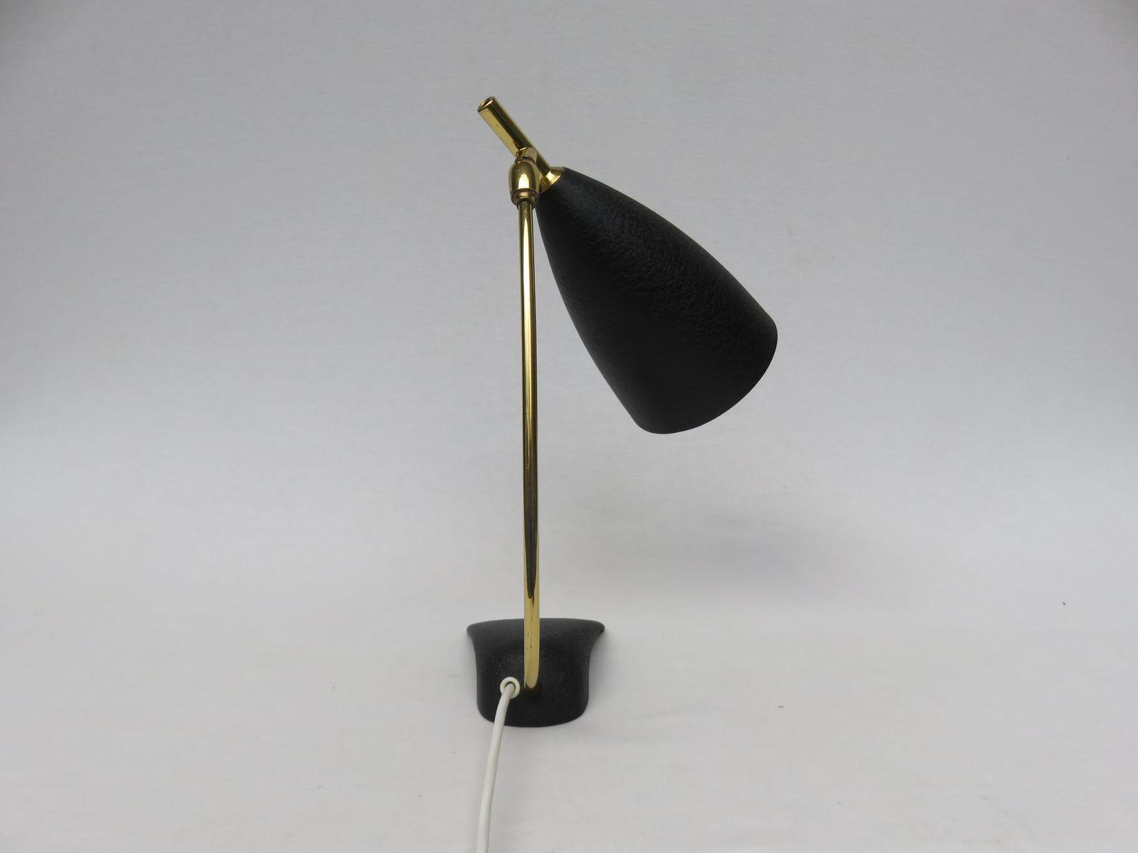 Lampe de bureau noire par louis kalff pour philips s en vente