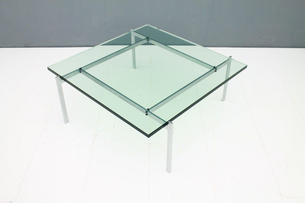pk 61 couchtisch aus stahl glas von poul kjaerholm f r e kold chris artifex fritzen. Black Bedroom Furniture Sets. Home Design Ideas