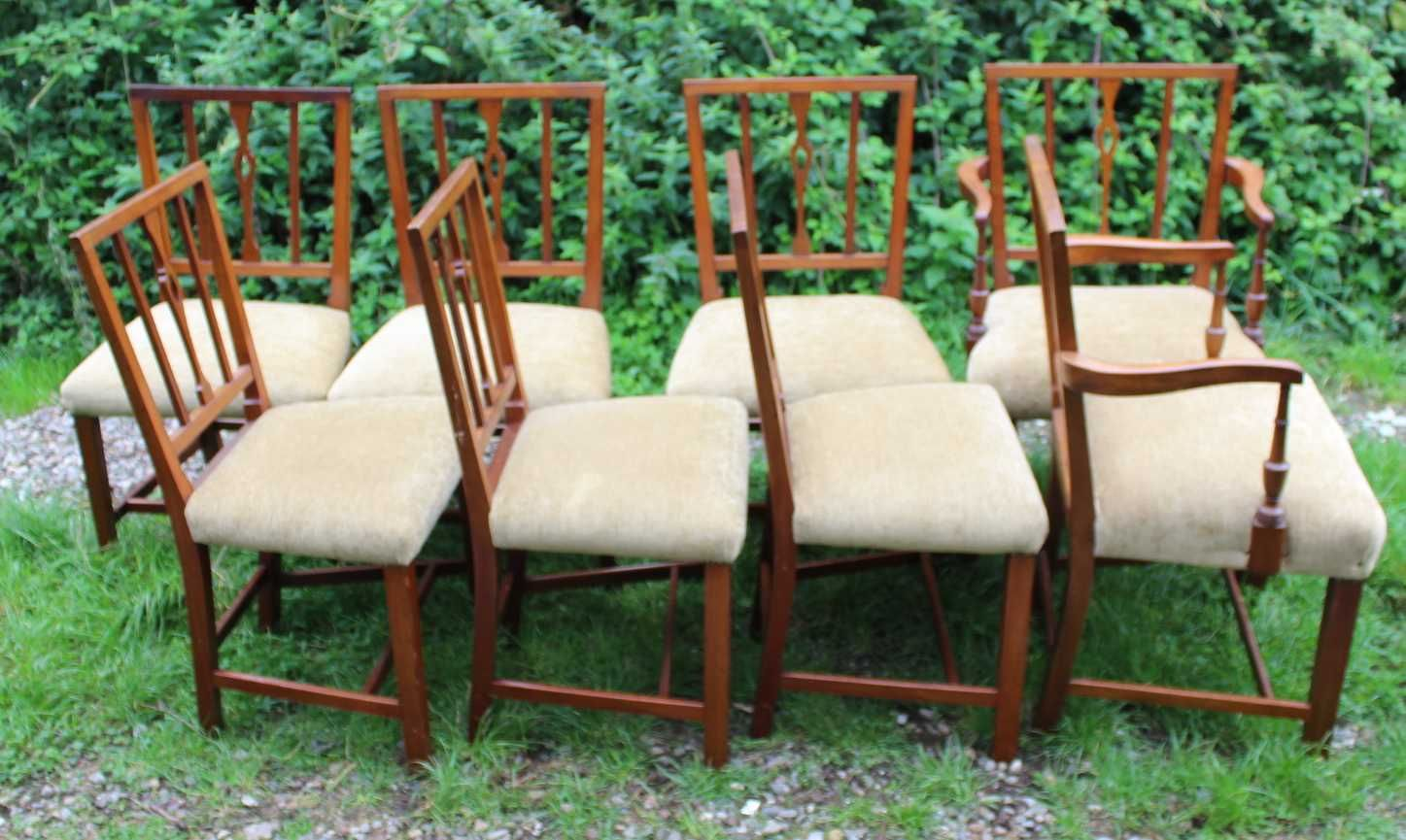 Antique Mahogany Dining Chairs, 1810s, Set Of 8