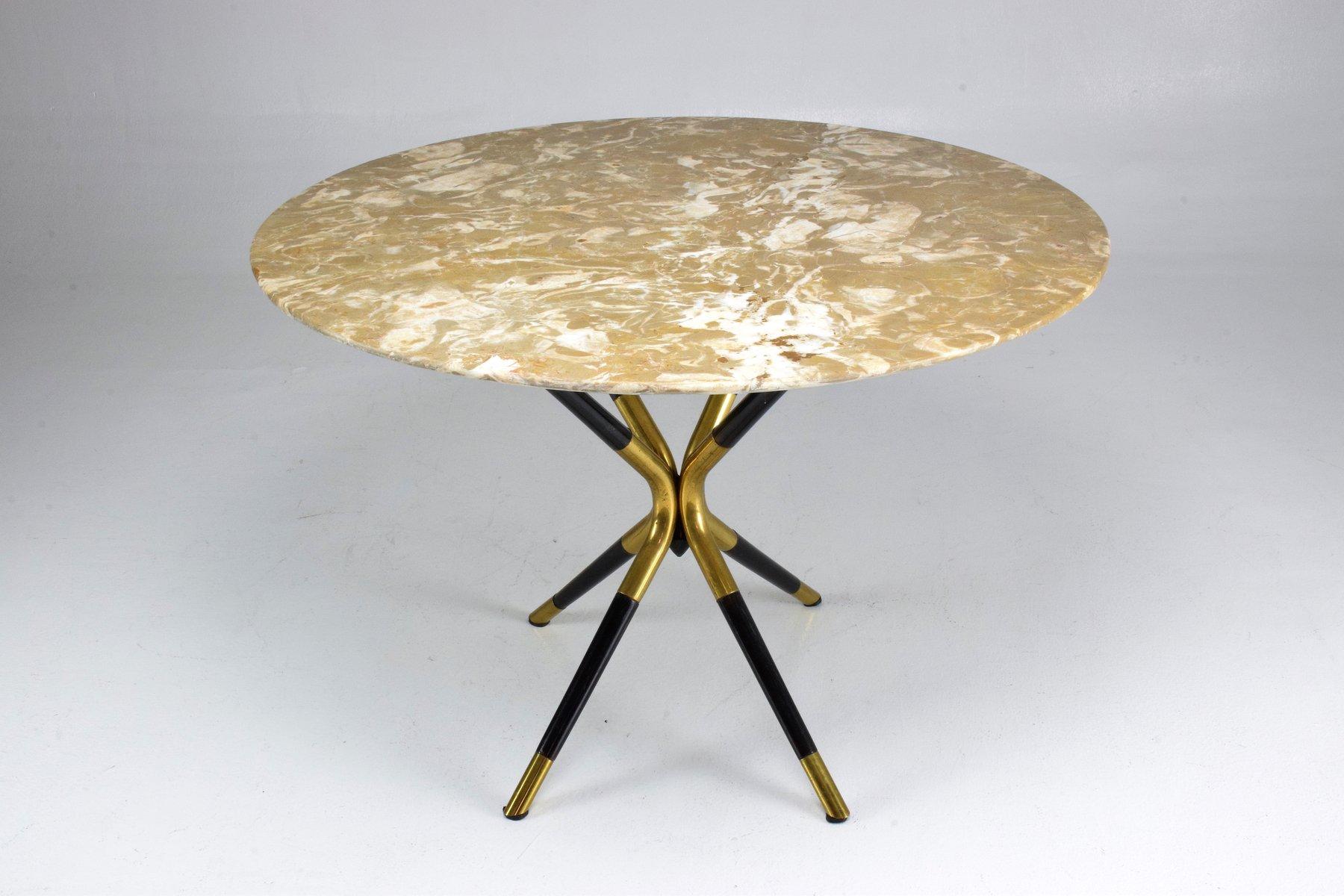 runder italienischer vintage tisch aus marmor von cesare lacca 1950er bei pamono kaufen. Black Bedroom Furniture Sets. Home Design Ideas