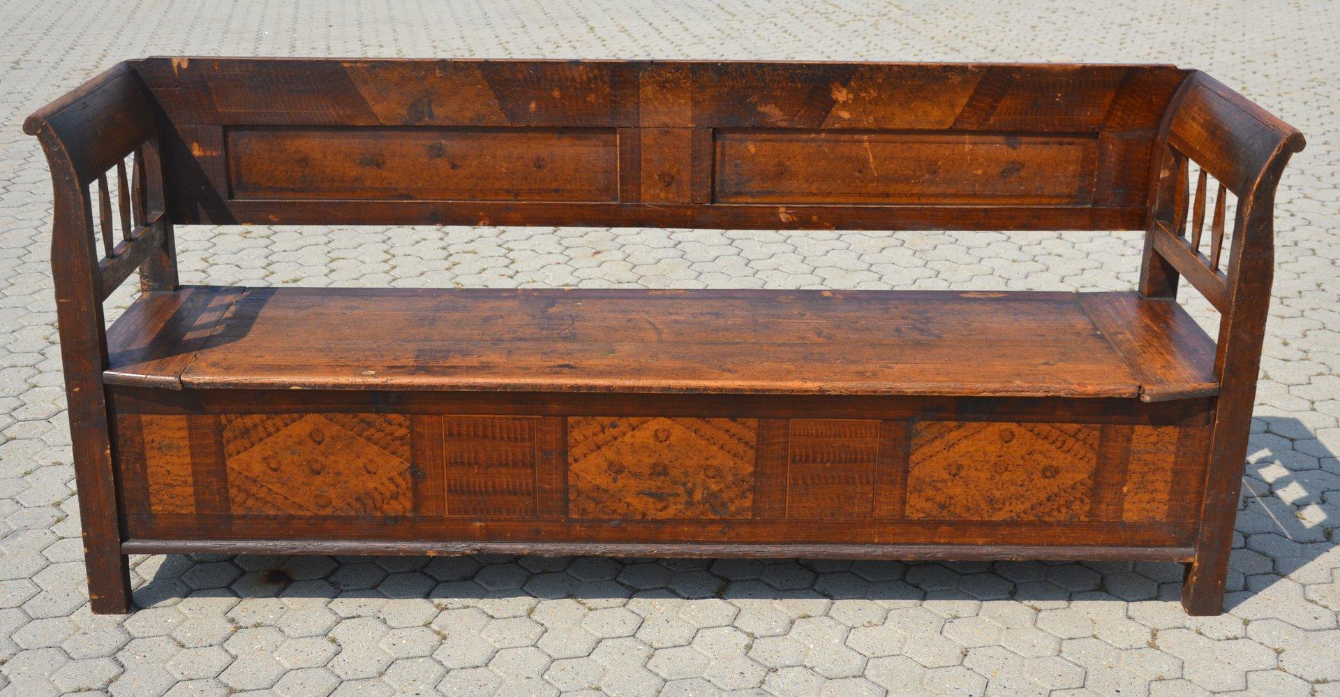 Excellent Antique Bench With Storage Theyellowbook Wood Chair Design Ideas Theyellowbookinfo