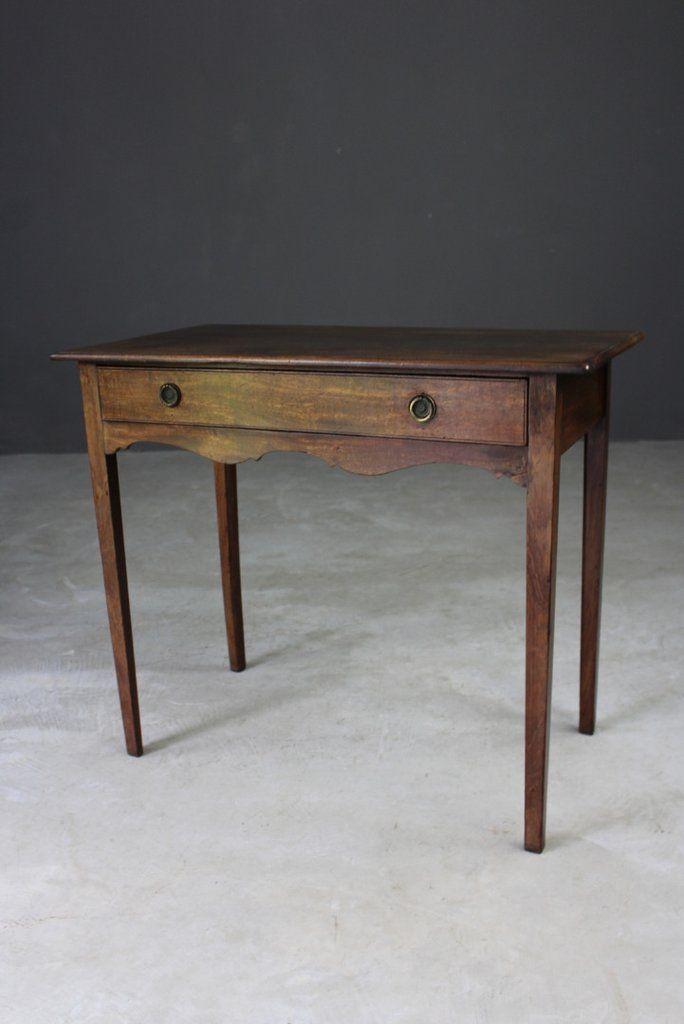antique georgian mahogany side table - Antique Mahogany End Tables