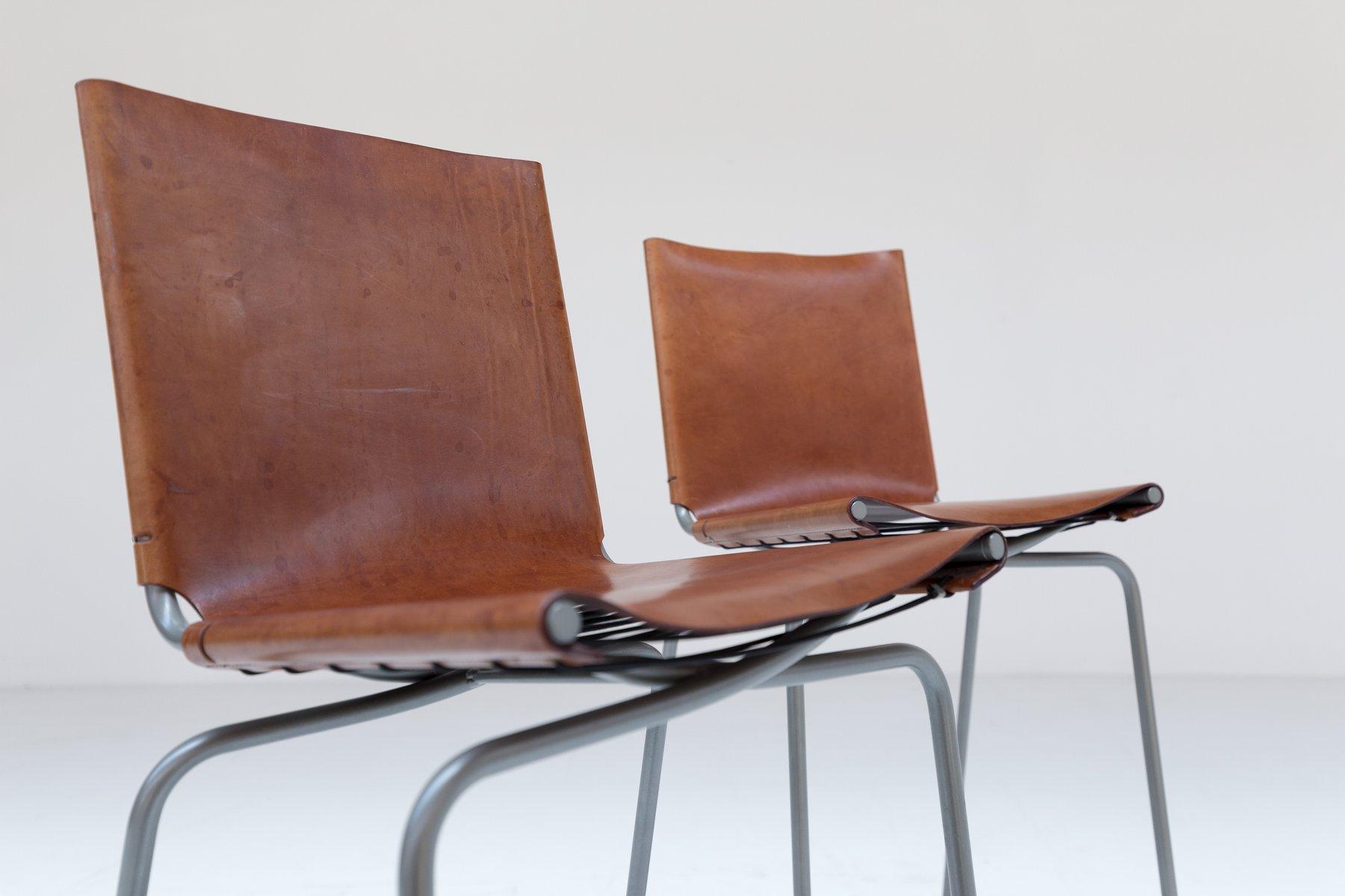 Sgabello Vintage Con Schienale : Sgabelli da bar vintage con schienale alto di fabiaan van severen