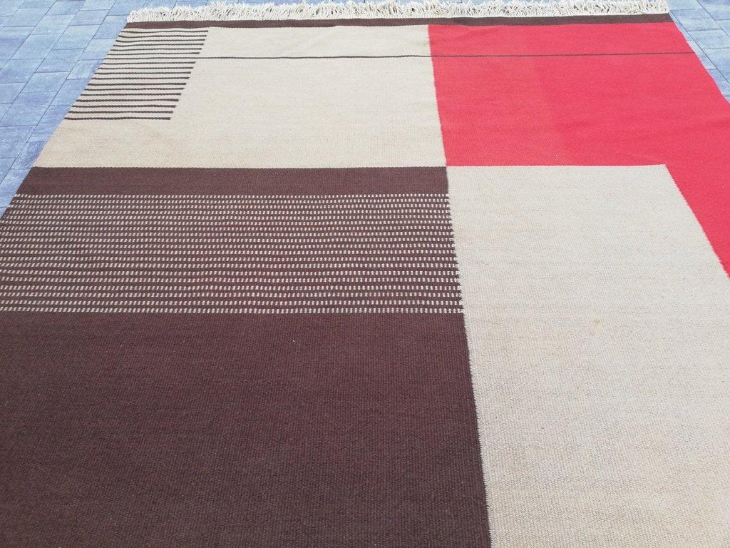 gro er doppelseitiger teppich von antonin kybal f r kr sn jizba 1958 bei pamono kaufen. Black Bedroom Furniture Sets. Home Design Ideas