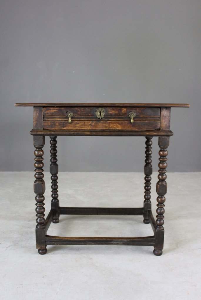 Antique Rustic Oak Side Table - Antique Rustic Oak Side Table For Sale At Pamono