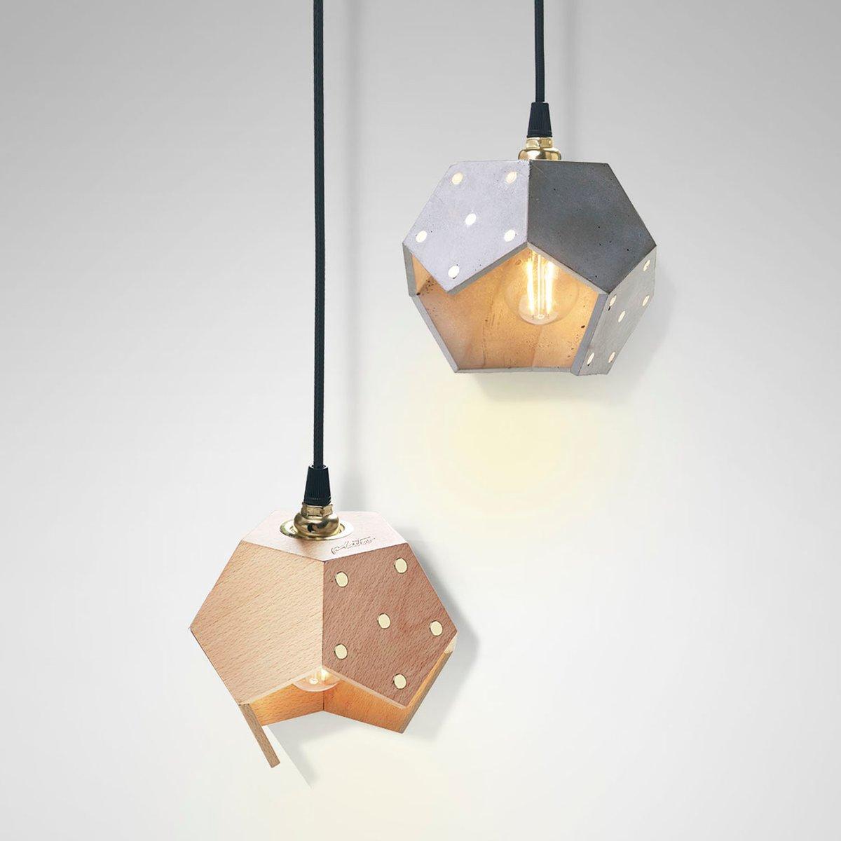 basic twelve duo h ngelampe aus beton holz von plato design bei pamono kaufen. Black Bedroom Furniture Sets. Home Design Ideas