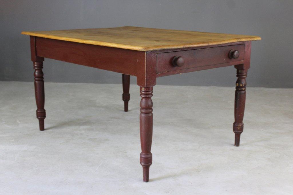 Tavolo da cucina vittoriano in legno di pino in vendita su Pamono