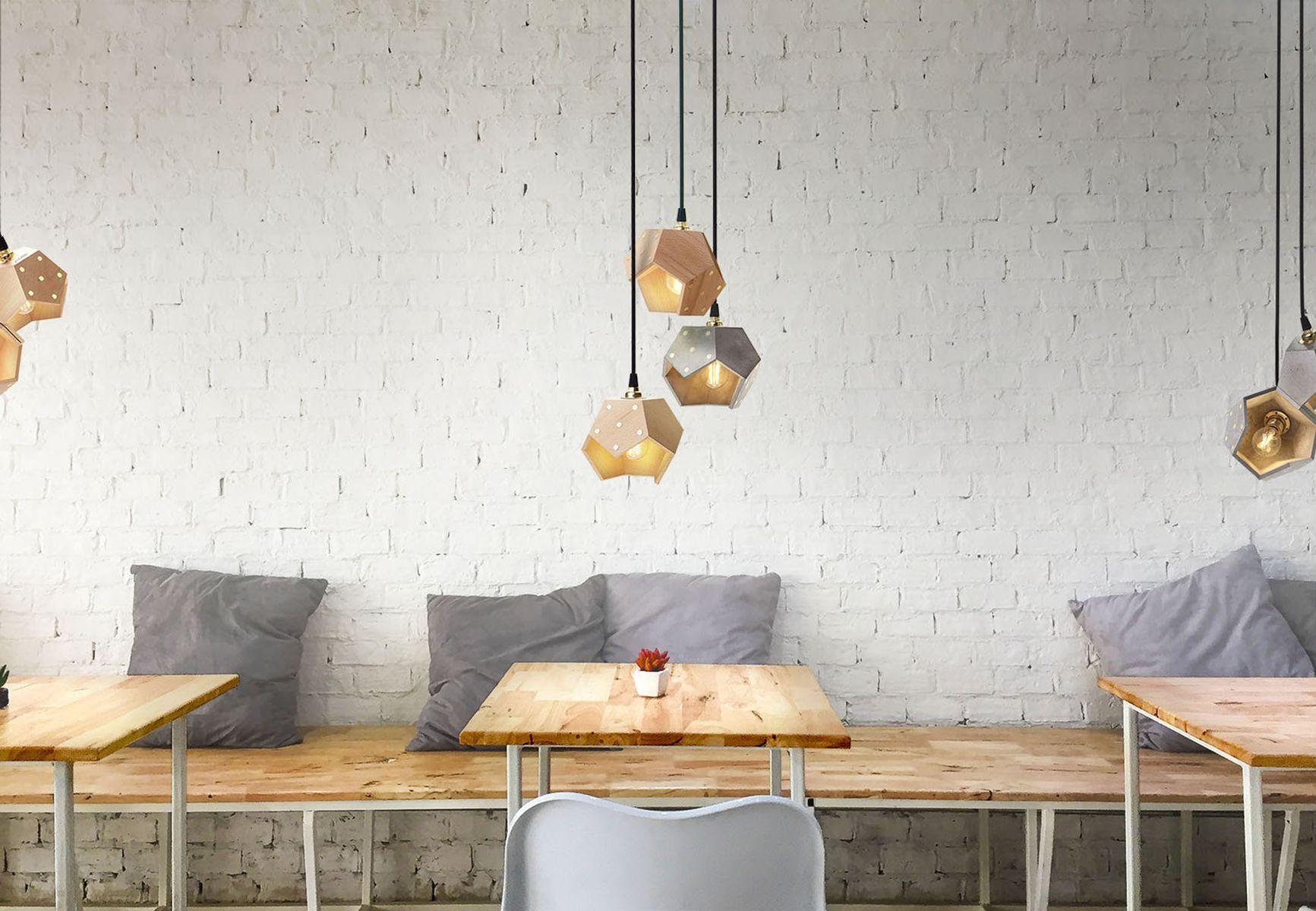 basic twelve duo h ngelampe aus holz von plato design bei pamono kaufen. Black Bedroom Furniture Sets. Home Design Ideas