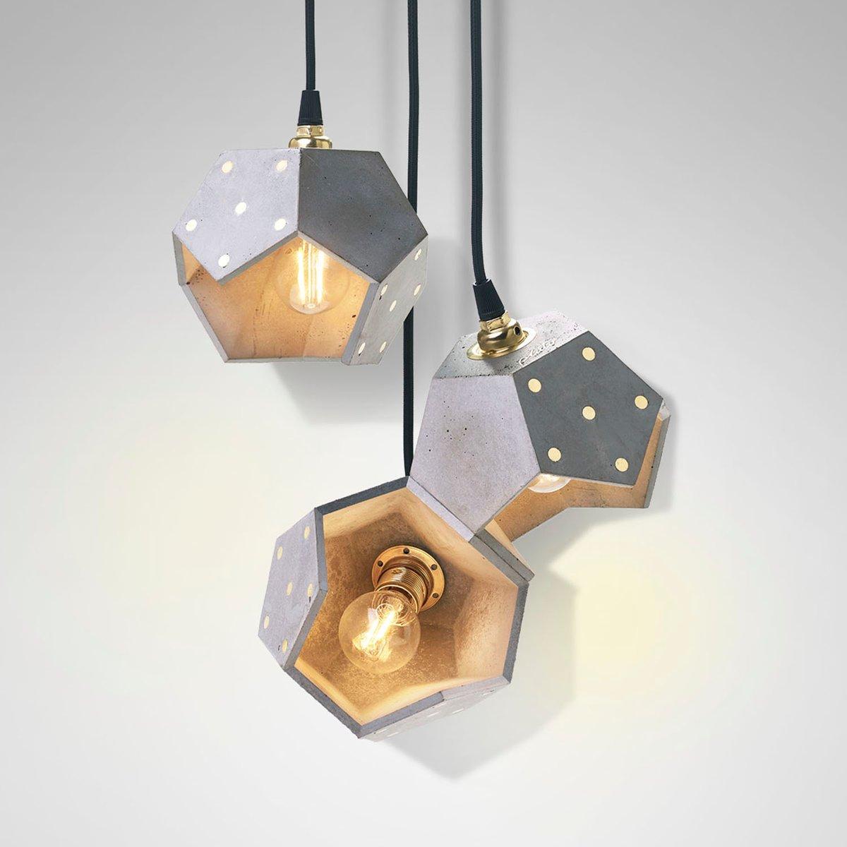 Basic TWELVE Trio Hängelampe aus Beton von Plato Design
