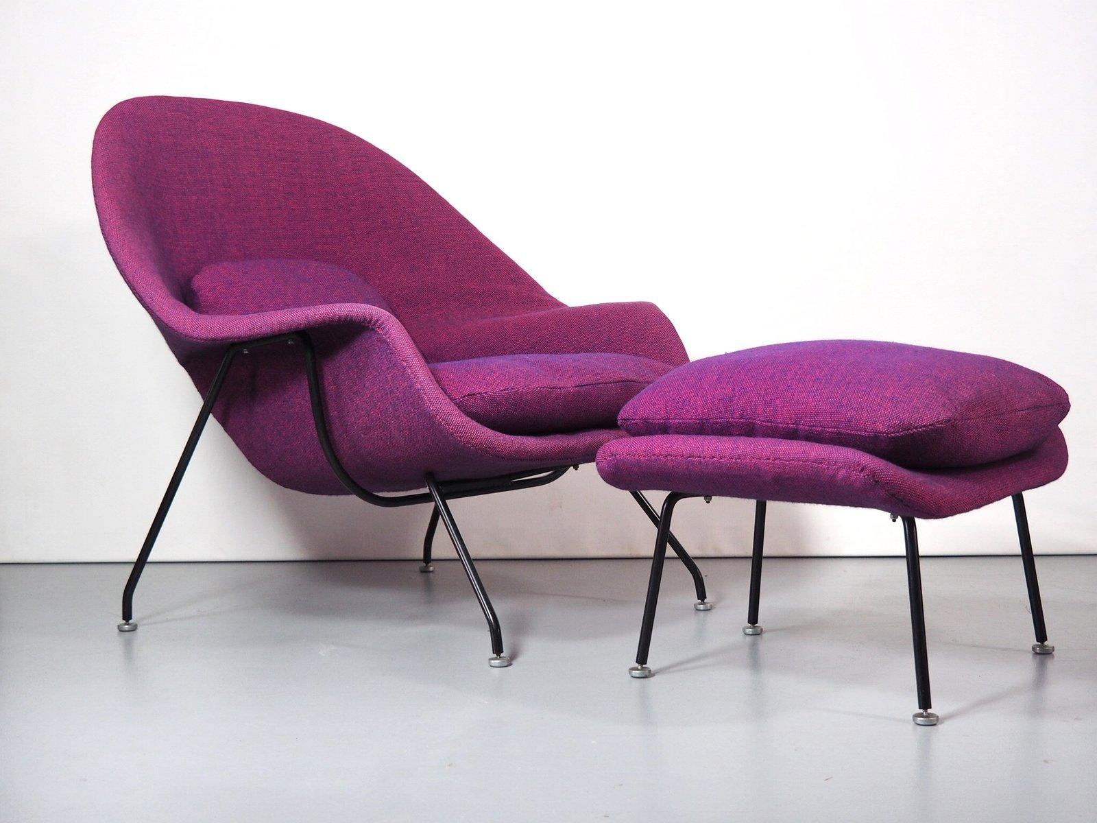 Womb Sessel & Fußhocker Set von Eero Saarinen für Knoll International,...