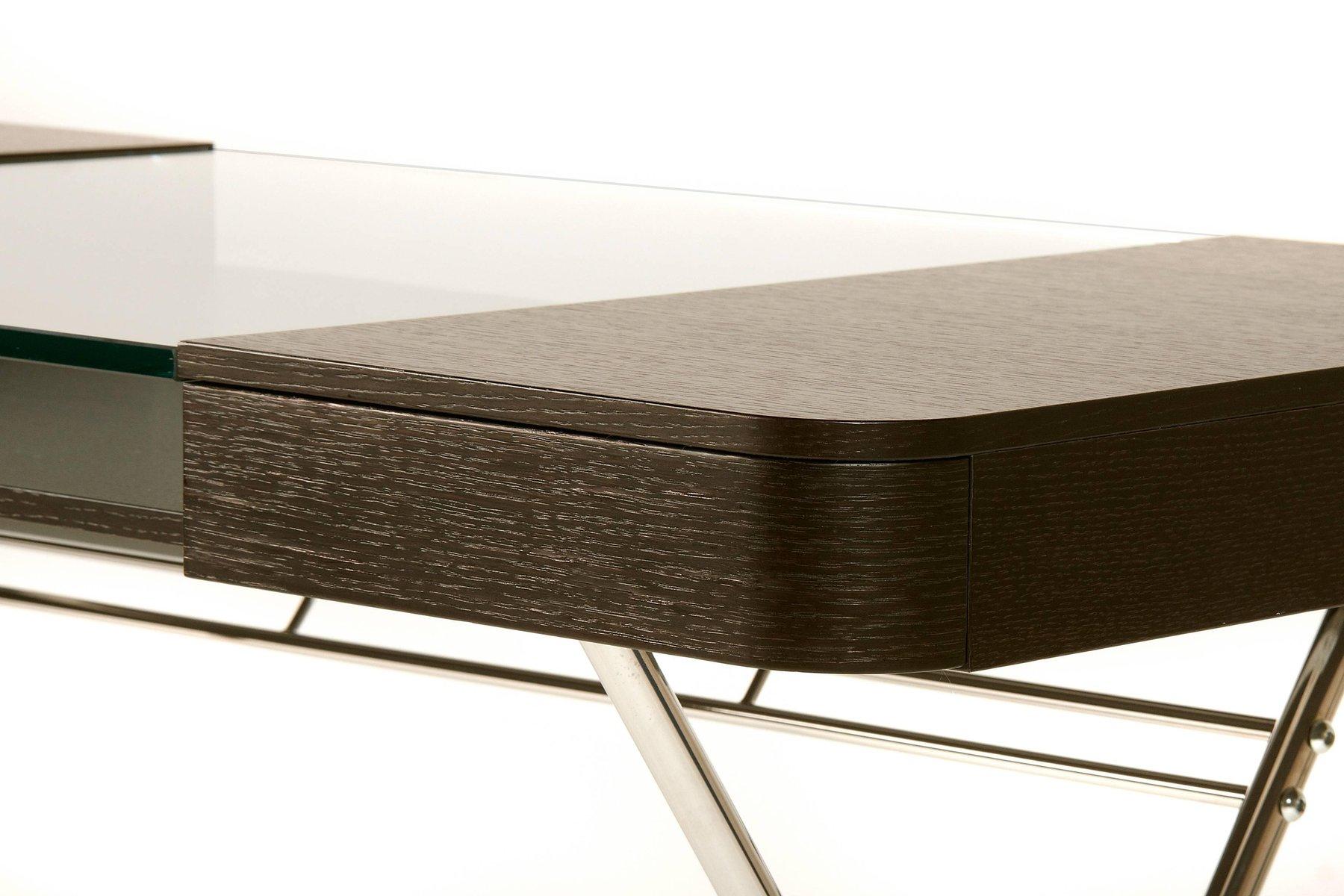 Cosimo Schreibtisch Mit Platte Aus Wenge-gebeizter Eiche