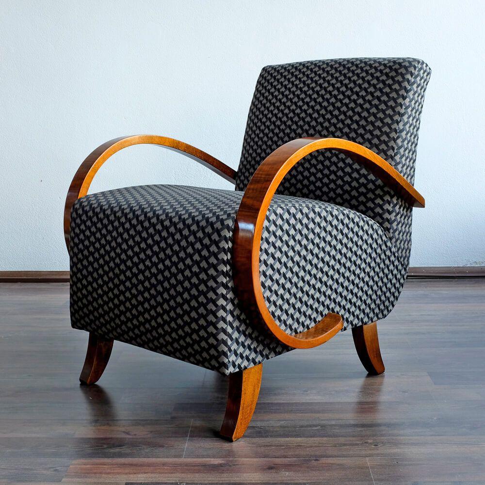Vintage Sessel von Jind?ich Halabala für UP Závody, 1950er