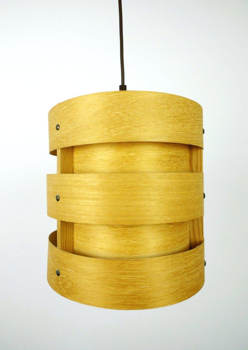 deutsche h ngelampe aus holz von zicoli 1970er bei pamono kaufen. Black Bedroom Furniture Sets. Home Design Ideas