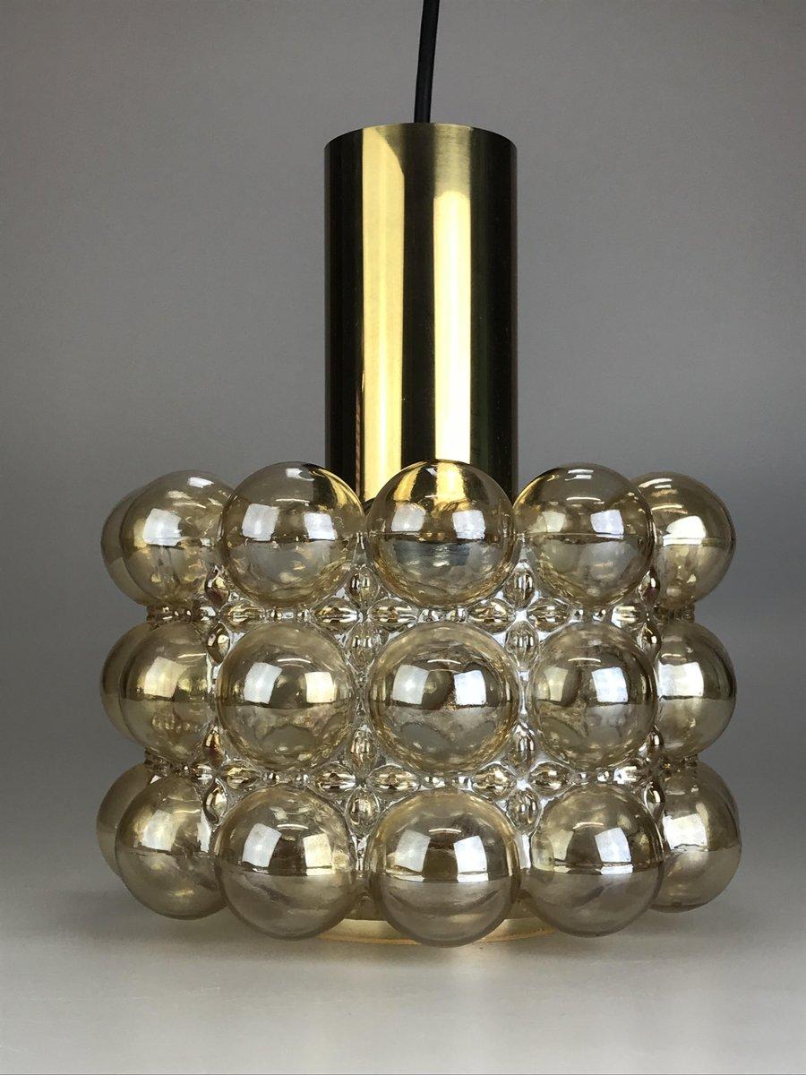 Bubble Vintage Deckenlampe aus Glas & Messing von Limburg