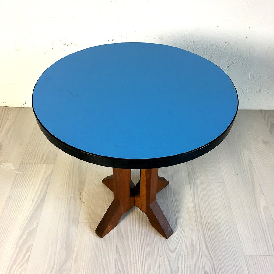 Vintage Blue Formica Coffee Table, 1960s for sale at Pamono