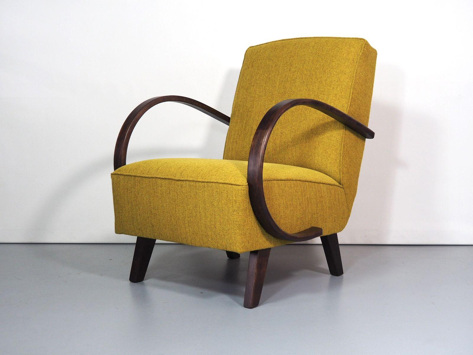 Art Deco Sessel von Jindrich Halabala