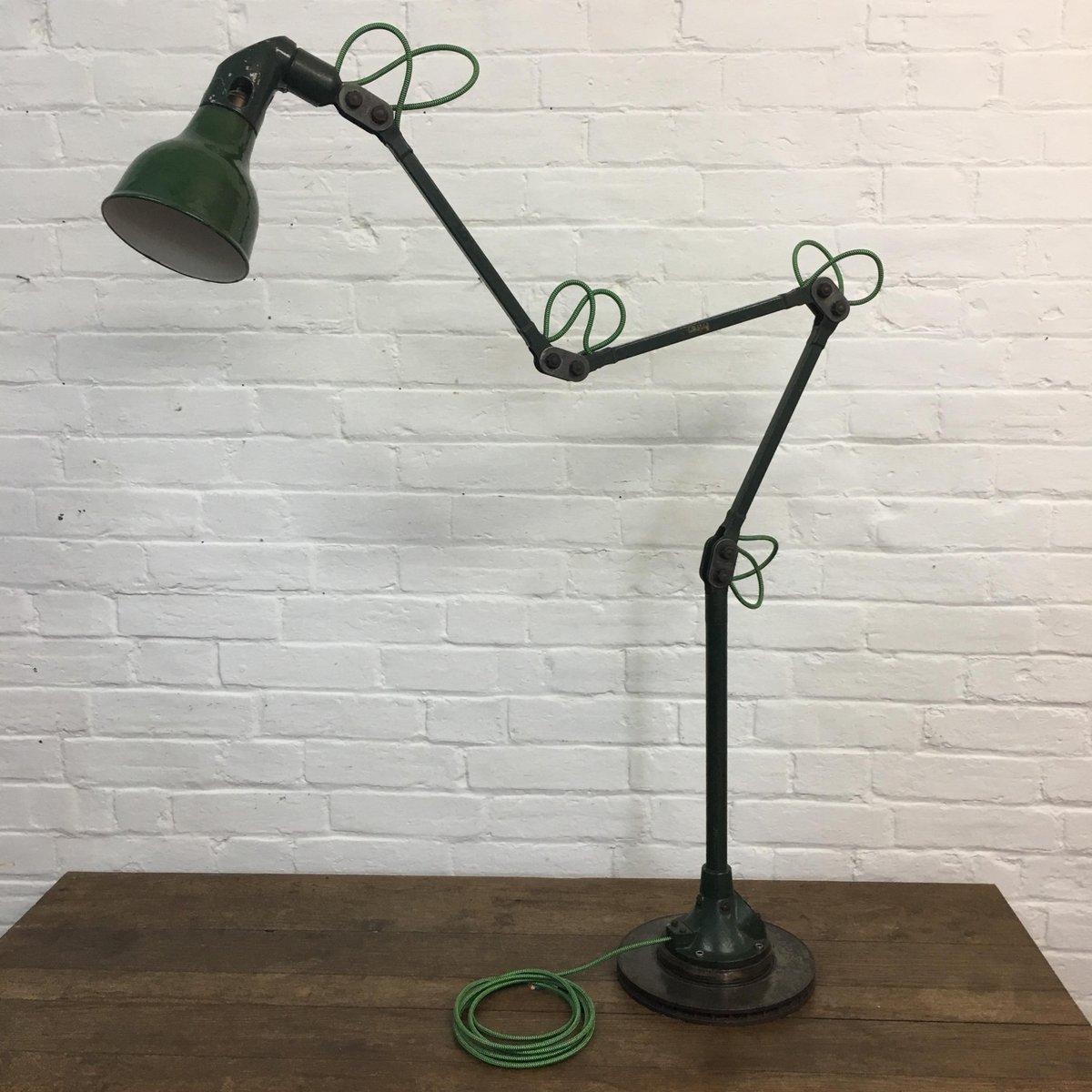 4-Armige Vintage Fabriklampe von Mek Elek
