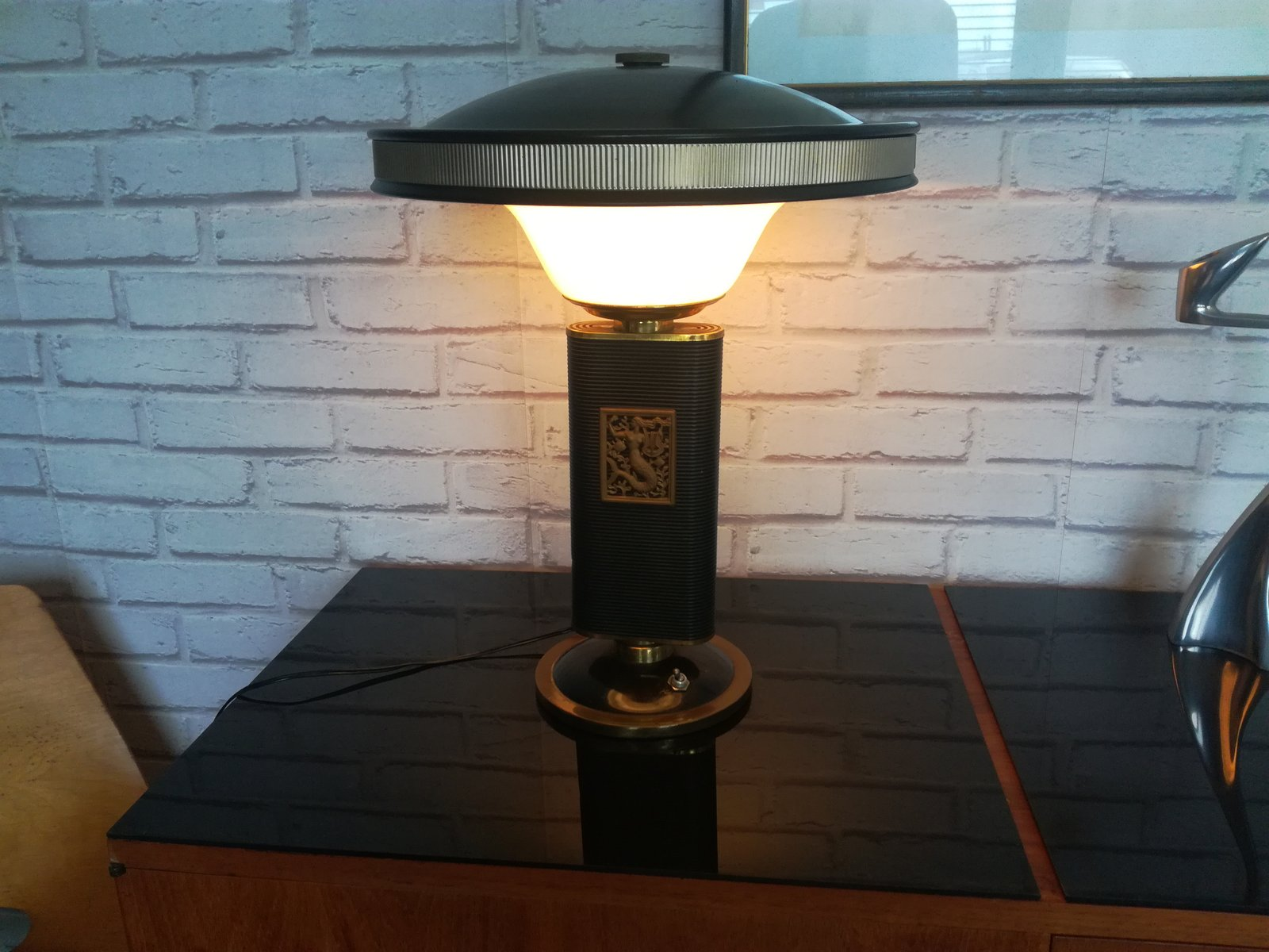 Vintage Mermaid Lamp By Eileen Gray For Jumo For Sale At