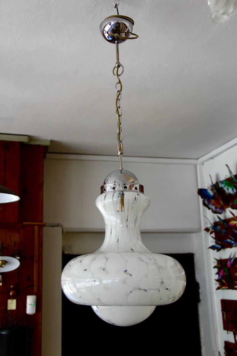Handgeblasene Vintage Deckenlampe aus Muranoglas, 1970er