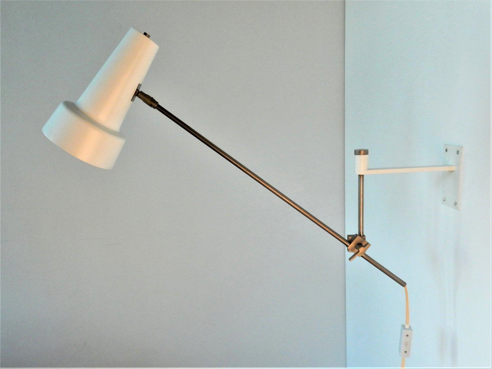 Weiße Modell 55 Wandlampe von Willem Hagoort für Hagoort, 1960er