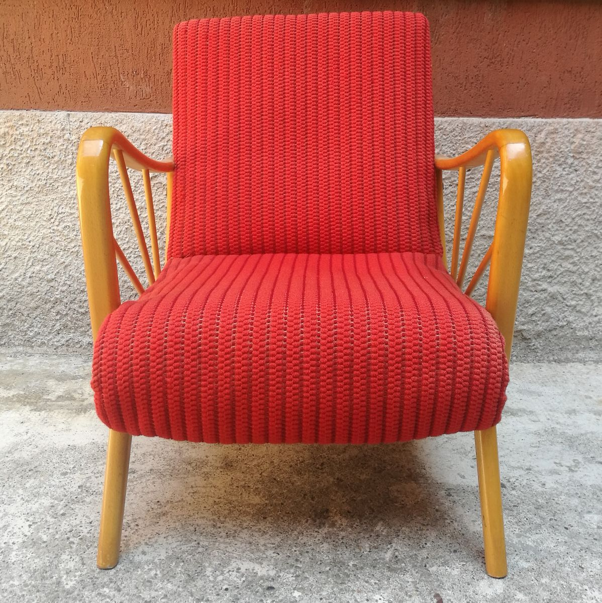 Red Armchair 1960s For Sale At Pamono