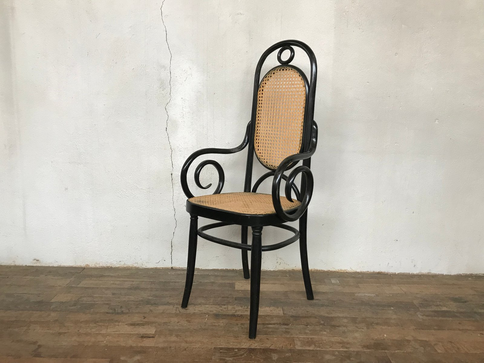 Antiker rumänischer Thonet Sessel aus Bugholz von Jacob & Joseph Kohn