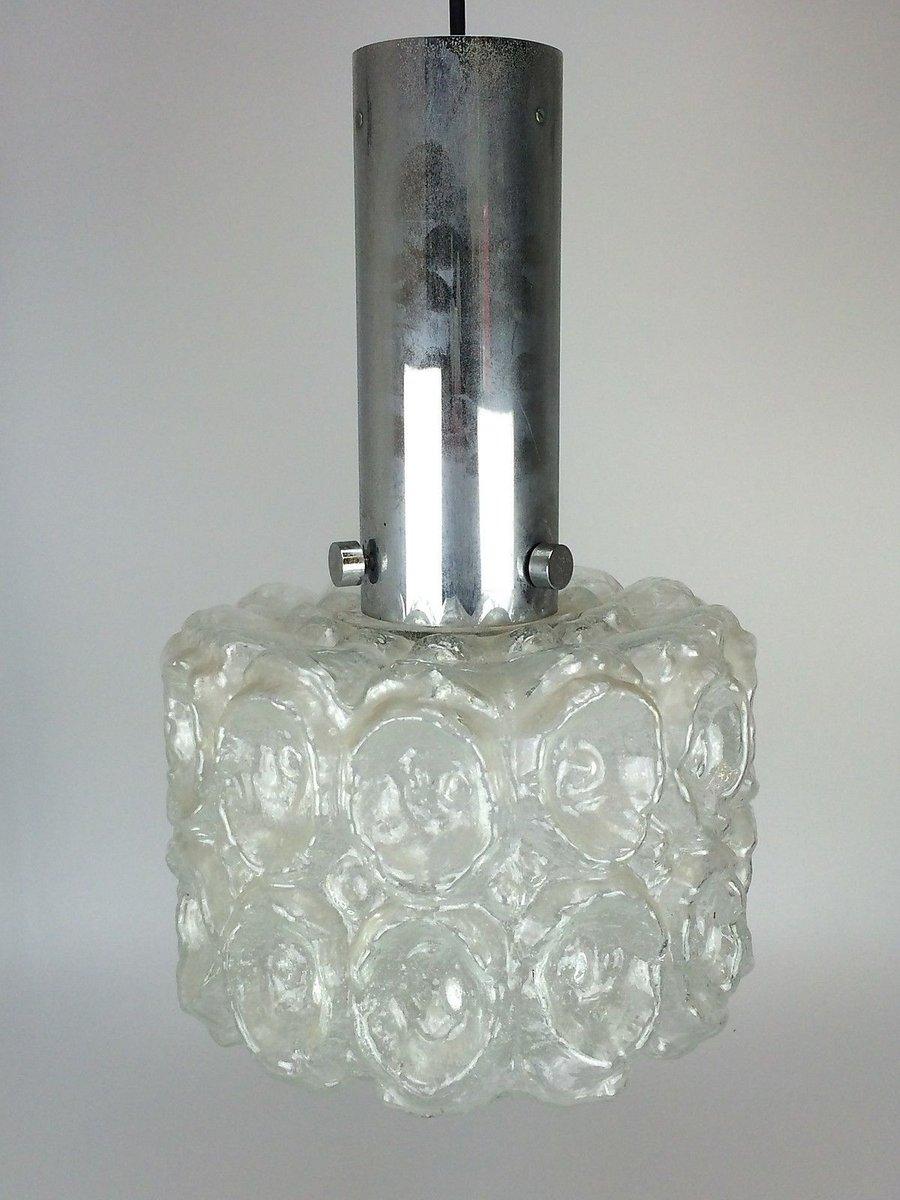 Deckenlampe aus Sideglas & Chrom von Limburg, 1960er