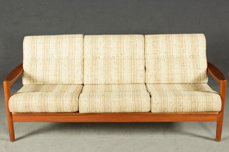 Skandinavisches 3-Sitzer Sofa aus Teak, 1960er