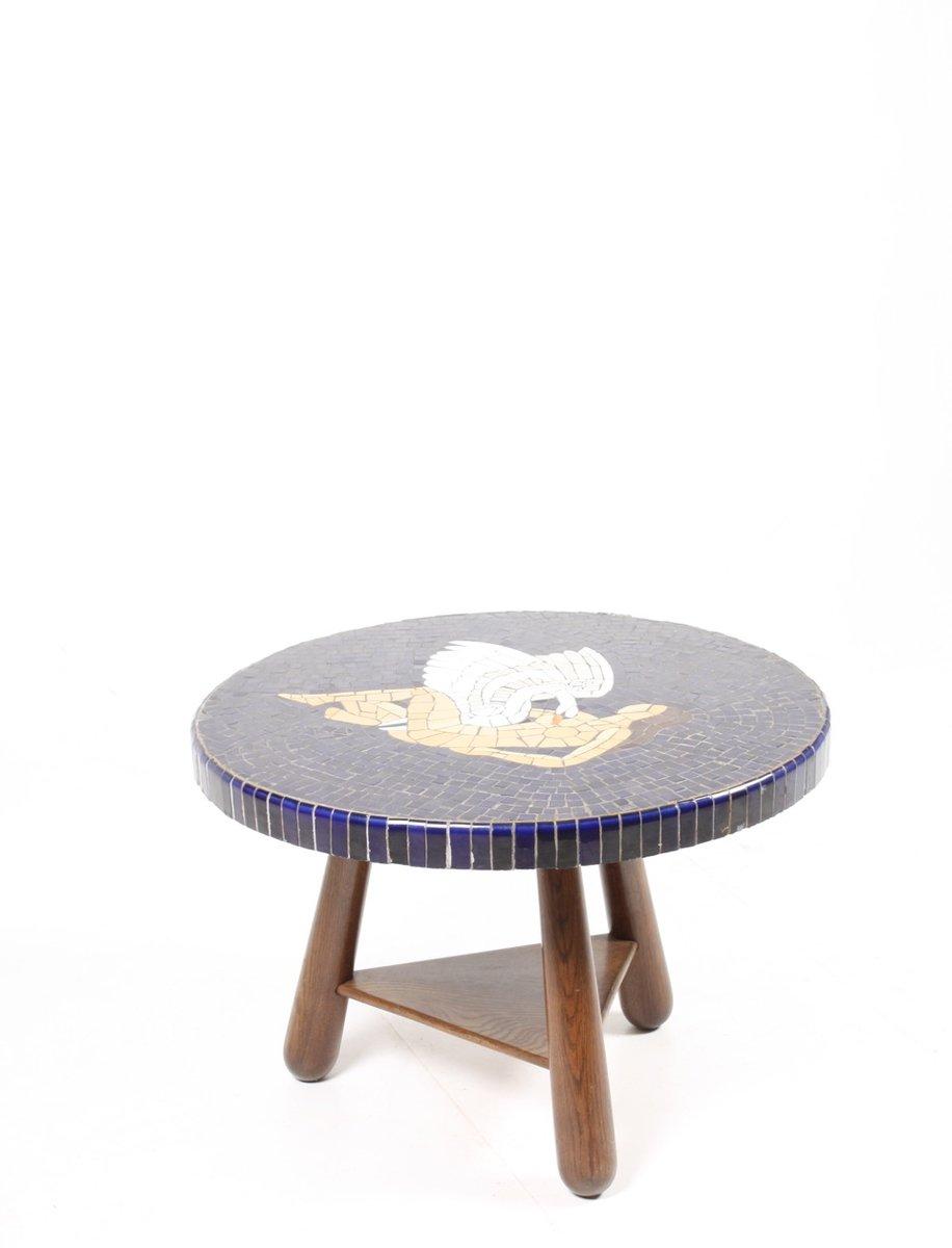 vintage beistelltisch aus mosaik 1940er cafe konrad vib. Black Bedroom Furniture Sets. Home Design Ideas