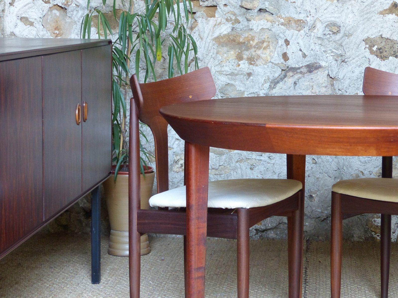 Vintage Scandinavian Teak Dining Table By Ole Hald For Gudme Mbelfabrik