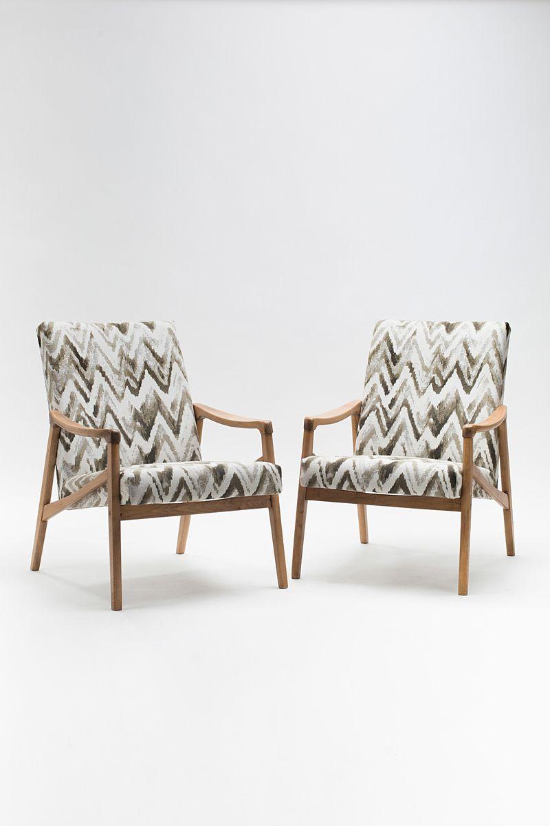 Vintage Sessel von Ji?í Jiroutek für Interier Praha, 2er Set