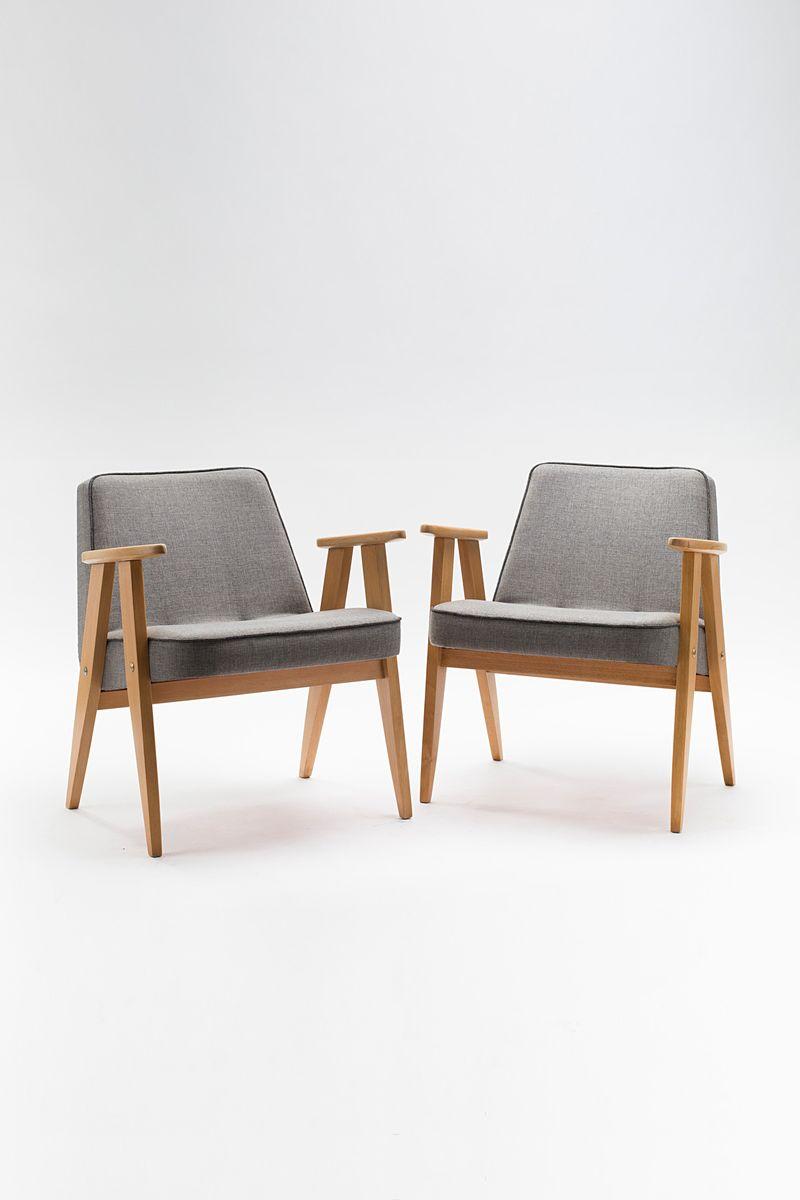 vintage typ 366 sessel von j chierowski f r dolnos la ska. Black Bedroom Furniture Sets. Home Design Ideas