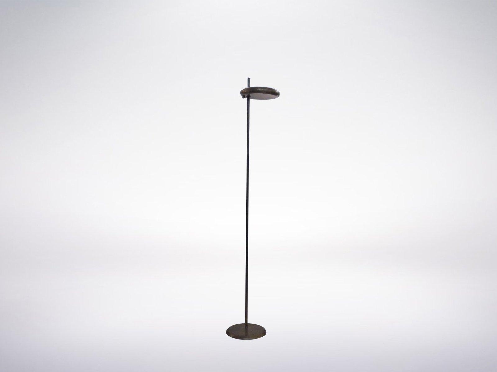 Geometrische Stehlampe mit scheibenförmiger Leuchte, 1950er