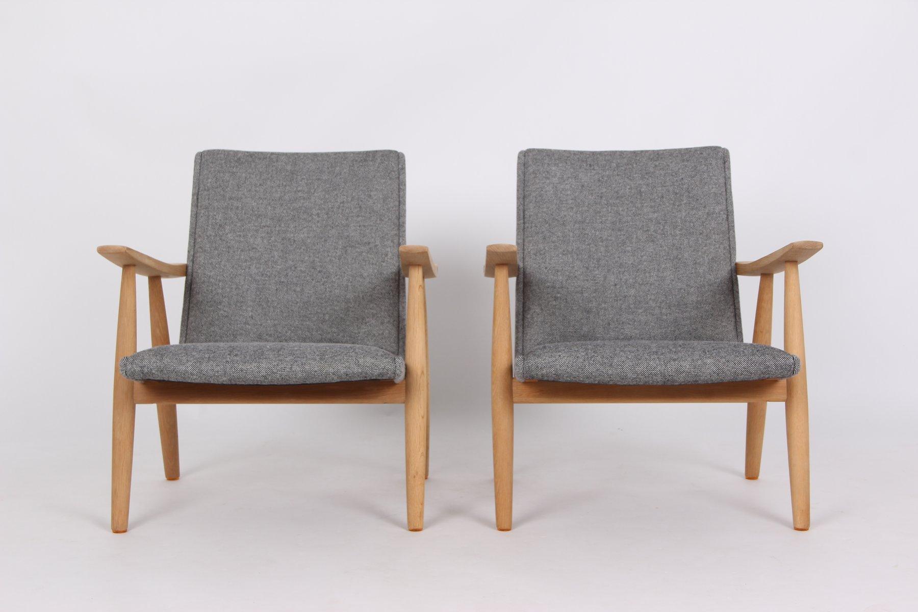Wegner Sessel vintage ge260 sessel aus massiver eiche & wolle von hans j. wegner