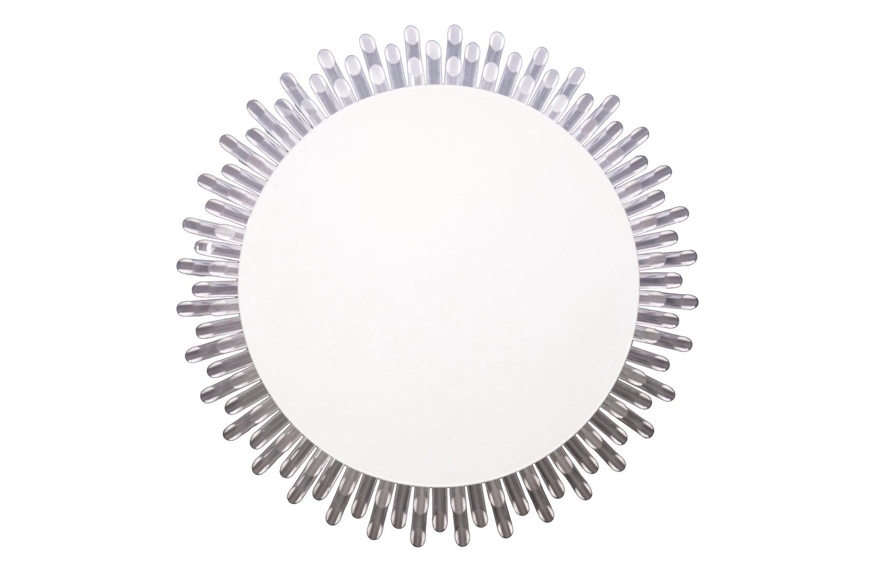Rückbeleuchteter Spiegel in Sonnen-Optik, 1970er | Bad > Spiegel fürs Bad