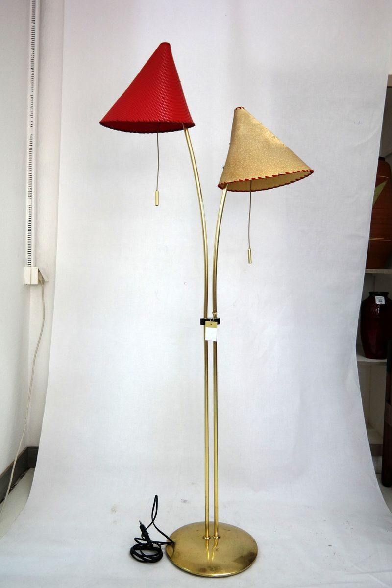 Double shaded floor lamp 1950s for sale at pamono double shaded floor lamp 1950s aloadofball Gallery
